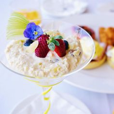 Such a smart idea to serve breakfast this way! //  bircher muesli  from @panpacificperth