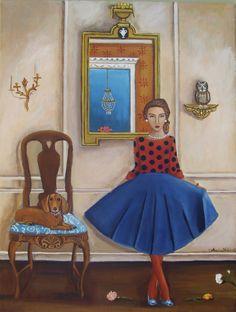 Original Painting Meet Virginia Painting by by CatherineNolinArt, $575.00