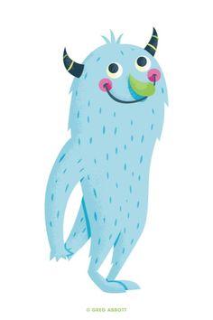 Pleased~ By Gregg Abbott Pet Monsters, Cartoon Monsters, Little Monsters, Scary Monsters, Cute Monster Illustration, Children's Book Illustration, Character Illustration, Sweet Drawings, Cute Cartoon Drawings