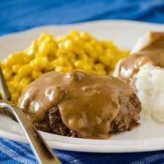 Slow Cooked Salisbury Steak | Real Mom Kitchen. Pure comfort. With gravy.