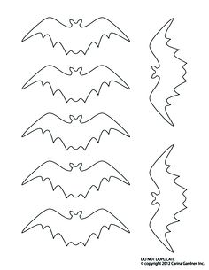 bat templates - Halloween Decoration Templates