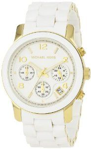 Save off Michael Kors Chronograph White Dial Women Watch. Shop by discount Michael Kors Chronograph White Dial Women Watch . Gucci Purses, Chanel Handbags, Coach Handbags, Coach Purses, Mk Watch, Gold Watch, Mo S, Casual Watches, Plaque