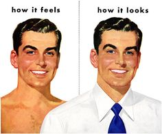 "buzz-o-graph: ""From a Van Heusen shirt ad "" Vintage Advertisements, Vintage Ads, Nostalgia, Arrow Shirts, Men Are Men, Vintage Drawing, Pin Up, Vintage Fashion, 1940s Fashion"