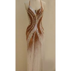 This long fringe dress is beautiful! It says Dance with me to the Argentine Tango. Latin Ballroom Dresses, Ballroom Costumes, Ballroom Dance Dresses, Dance Costumes, Ballroom Dancing, Salsa Dress, Dance Fashion, Dress Fashion, Fringe Dress