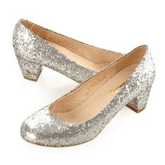 c0b7ce9a45e Classic Best Metallic Silver Sequin Wedding Bridal Evening Pumps Shoe  SKU-1090547