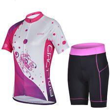 Cheji Women Bicycle Sportwear Cycling Set Shorts Sleeve Jersey Pants Jersry Suit