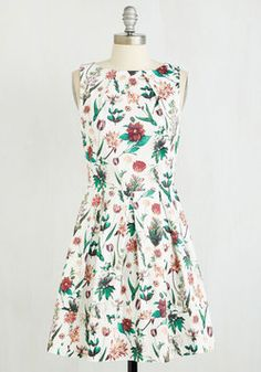 Luck Be a Lady Dress in Flora