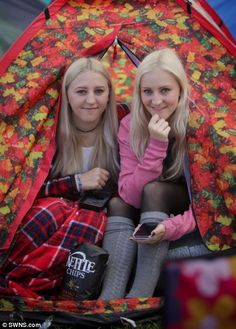 Sisters Olivia, and Melissa Levesley, from Sheffield. Enjoy The Sunshine, Music Festivals, Sheffield, Baby Strollers, Sisters, Rain, Children, Baby Prams, Rain Fall