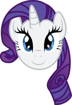 Rarity Face by PaulySentry on DeviantArt Festa Do My Little Pony, My Little Pony Costume, My Little Pony Unicorn, Little Pony Cake, My Little Pony Birthday Party, Invitaciones My Little Pony, Princesa Twilight Sparkle, My Little Pony Stickers, Raimbow Dash