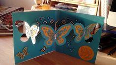Triple pivot butterfly card