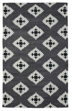 Udaipur Black-Indian Cotton rug for the Rug Company