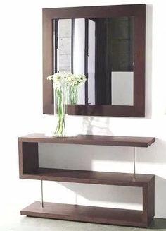modern console table design ideas with mirror 2019 Corner Furniture, Home Decor Furniture, Home Decor Bedroom, Home Living Room, Entryway Decor, Living Room Decor, Furniture Design, Home Room Design, Home Interior Design