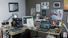 Workspace by ShawnCoss on DeviantArt Workspace Design, Office Workspace, Home Office, Room Interior Design, Interior Decorating, Conference Room, Gallery Wall, Room Decor, House Design