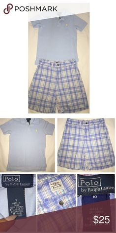 Ralph Lauren 2PC Lot Pre•loved Ralph Lauren 2PC Lot • Polo shirt is a size 7 • The shorts are a size 10, run small, my son is 8 and they fit him • Waist is not adjustable • Excellent condition Ralph Lauren Matching Sets