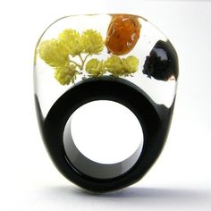 Yellow Flowers Ring by Sylwia Calus