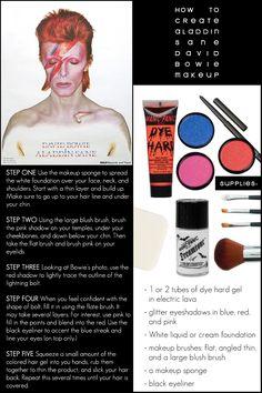 David Bowie Aladdin Sane Makeup - Three Sixty Ecotique