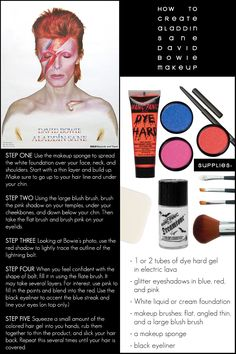 David Bowie Aladdin Sane Makeup - Three Sixty Ecotique