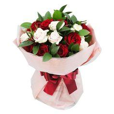 Bouquet con envoltorio de papel seda