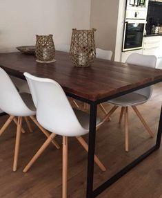 Mesa de comedor industrial pinterest comedores mesa for Muebles industriales baratos