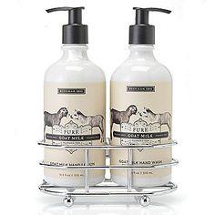 Beekman 1802 Goat Milk Hand Wash & Hand Lotion Caddy Duo 12.5 oz Each
