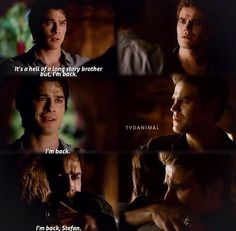 "#TVD 6x05 ""The World Has Turned and Left Me Here"" - Stefan and Damon"