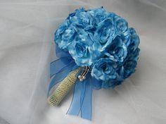 Buque de rosas azuis - I