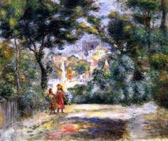 Pierre Auguste Renoir (French, 1841 - 1919) View of Sacré-Coeur,1905. Пьер Огюст Ренуар (Французский, 1841-1919) Вид Сакре-Кер, 1905 год. 皮埃尔·奥古斯特·雷诺阿 (法国,1841-1919) 圣心大教堂,1905年。