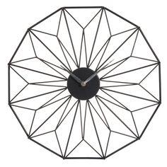 Horloge en métal noire D 39 cm GRAFIK