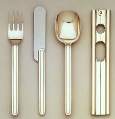 // Massimo Vignelli; 'Ciga' Cutlery for Cialegaro, 1979.