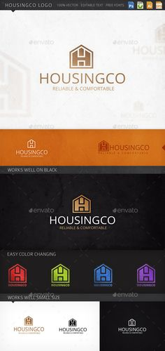 Housingco House Logo Design Template Vector #logotype Download it here:  http://graphicriver.net/item/housingco-house-logo-template/6432244?s_rank=132?ref=nexion