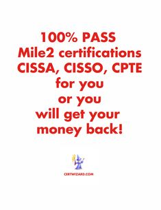 PASS without exam with certwizard Cyber Security Certifications, Certificate, The 100