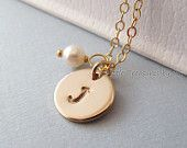 Handmade Personalized Necklace $30 Made in the USA http://giftees.gifts.com