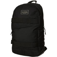 Dakine Manual Backpack ($37) ❤ liked on Polyvore featuring bags, backpacks, black, black bag, polyester backpack, zipper bag, black rucksack and strap bag