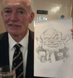 On the spot caricature at Victory Servicemans Club Gala
