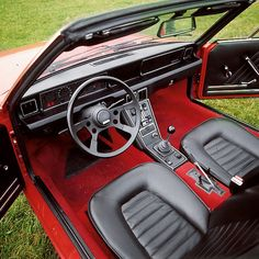 Fiat X 1/9 interior - Such a comfortable car, if you didn't mind the classic Italian driving position. I loved the little shift knob. I heard that they later had to change it for U.S. spec cars because the little knob was ruled too dangerous.