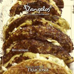 Mini Cachapas para darle sabor y originalidad a tu evento o celebración.  Pedidos en nuestro perfil.  D'angelos #Catering #SencillamenteDelicioso  en Guayana.  #gastronomía  #gourmet  #menú #pasapalos  #bocadillos  #gastronomy  #Guayana  #puertoordaz