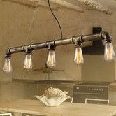 Found it at Temple & Webster - Straight Row Industrial Iron Pipe Pendant Lamp