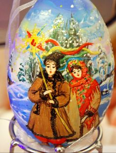 """ KOLYADA "" Pysanka art , Ukraine , from Iryna"