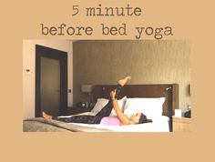 Pin it! 5 min before bed yoga sequence