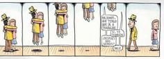 Love is in the air-Liniers Background Cool, Internet Art, Time Of Your Life, Soul On Fire, Humor Grafico, Calvin And Hobbes, Good Thoughts, Comic Strips, Illustrations Posters