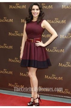 Kelly Brook Short A-line Party Dress Magnum's Pleasure Pod Launch - TheCelebrityDresses  $110 in a multitude of colours, you choose!