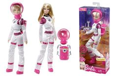 Astronaut Barbie takes her trademark pink . . . to Mars!