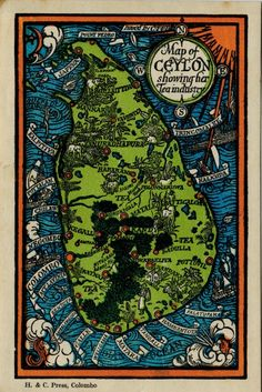 Map of Ceylon - I wish I could get a print of this!