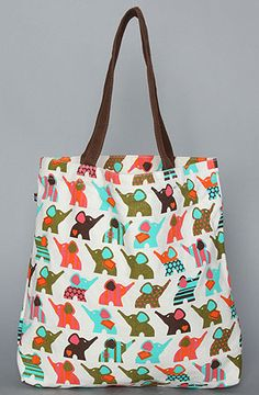 The Paul Frank Elephant Allover Tote by Paul Frank at karmaloop.com