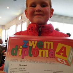 Jaaaaa onze grote meid heeft #ZwemdiplomaA