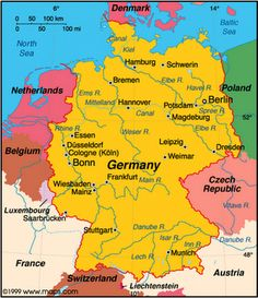 Map of the rivers of Germany, Passport Germany unit study!