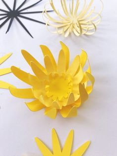 Tropical Leaf Template and New Centers Paper Flowers Craft, Large Paper Flowers, Paper Flower Backdrop, Flower Crafts, Diy Flowers, Fabric Flowers, Paper Crafts, Potted Flowers, Diy Crafts