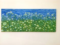 Daisies,Modern Wall Art,Large Wall Art, Oil Painting on Canvas,Extra Large Wall Art, Landscape Wall Art, Large Painting, Modern Art Painting by TheKatstore on Etsy