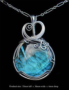 Echoes of Neptune Labradorite Pendant