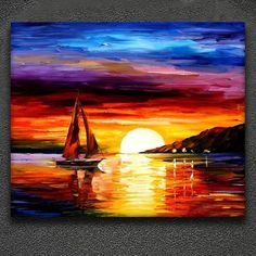 """Excellent """"abstract art paintings diy"""" info is offered on our internet site. Sailboat Art, Sailboat Painting, Acrylic Painting Inspiration, Acrylic Painting Canvas, Landscape Art, Landscape Paintings, Art Paintings, Oil Pastel Art, Small Canvas Art"""